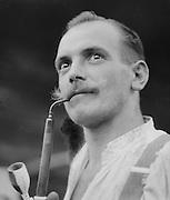 Man Smoking Pipe, Austria, circa 1921