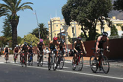 The chasing ladies during the Elite Women race of the Discovery Triathlon World Cup Cape Town leg held at Green Point in Cape Town, South Africa on the 11th February 2017.<br /> <br /> Photo by Shaun Roy/RealTime Images