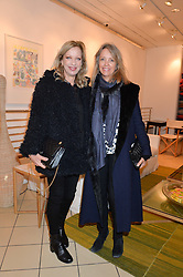 Left to right, MARY GREENWELL and SABRINA GUINNESS at a party to celebrate the launch of Conran Italia at The Conran Shop, Michelin House, 81 Fulham Road, London on 19th March 2015.