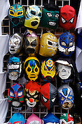 A group of mask of mexican wrestling as known as cachascan.