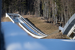 Ski jumpers during ski jumping training in Nordic Center Planica before Four Hills Tournament, on December 21, 2016 in Nordic, Center Planica, Planica, Slovenia. Photo by Matic Klansek Velej / Sportida