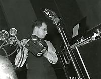 1942 Sound effects man at NBC Radio City