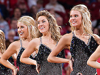 FAYETTEVILLE, AR - MARCH 4:   Pom Squad of the Arkansas Razorbacks performs at halftime during their game against the Ole Miss Rebels at Bud Walton Arena on March 4, 2009 in Fayetteville, Arkansas.  The Rebels defeated the Razorbacks 98-91.  (Photo by Wesley Hitt/Getty Images) *** Local Caption *** University of Arkansas Razorback Men's and Women's athletes action photos during the 2008-2009 season in Fayetteville, Arkansas....©Wesley Hitt.All Rights Reserved.501-258-0920.