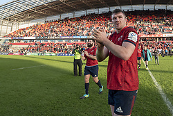 December 9, 2018 - Limerick, Ireland - Peter O'Mahony of Munster thanks his fans during the Heineken Champions Cup Round 3 match between Munster Rugby and Castres Qlympique at Thomond Park Stadium in Limerick, Ireland on December 9, 2018  (Credit Image: © Andrew Surma/NurPhoto via ZUMA Press)