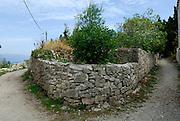 Stone wall, island of Vrnik, Croatia