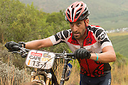 Kevin Evans of team Fedgroup Itec during stage 1 of the 2014 Absa Cape Epic Mountain Bike stage race held from Arabella Wines in Robertson, South Africa on the 24 March 2014<br /> <br /> Photo by Greg Beadle/Cape Epic/SPORTZPICS