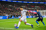Jadon Sancho (England) in action during the international Friendly match between England and USA at Wembley Stadium, London, England on 15 November 2018.