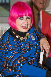 © Licensed to London News Pictures. 03/06/2015. London, UK. Fashion designer Dame Zandra Rhodes at the Royal College of Art (RCA) MA Fashion graduate fashion show.  Photo credit : Bettina Strenske/LNP