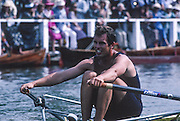 Henley, England, BEL M1X. Tom SYMOENS competing in the Diamond Challenge Sculls at the 1994  Henley Royal Regatta, Henley Reach, River Thames, Oxfordshire.<br /> <br /> <br /> [Mandatory Credit; Peter Spurrier/Intersport-images]