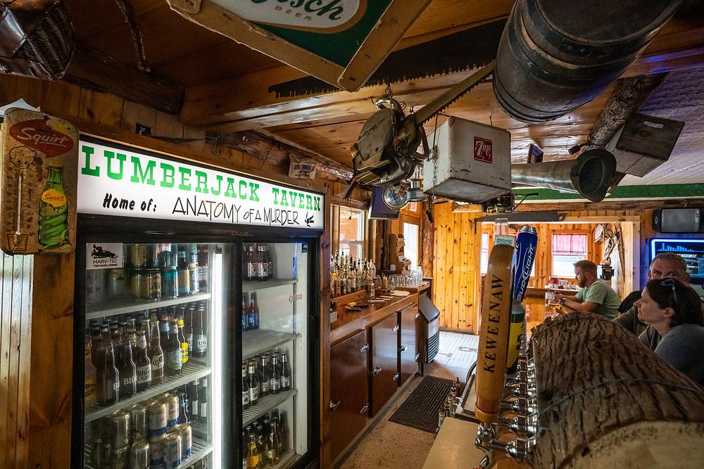 Scenes from the Lumberjack Tavern in Big Bay, Michigan.
