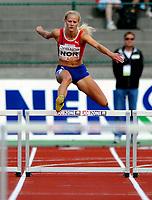 Friidrett<br /> 20. Juni 2009<br /> European Team Championships 1. st Leauge<br /> Fana Stadion<br /> 400 m hekk<br /> Stine Tomb , Norge<br /> Foto : Astrid M. Nordhaug