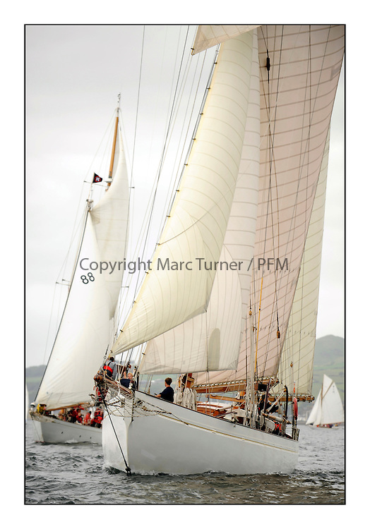 Day one of the Fife Regatta, Round Cumbraes Race.<br /> <br /> Kentra, E & D Klaus, GBR, Gaff Ketch, Wm Fife 3rd, 1923<br /> <br /> <br /> * The William Fife designed Yachts return to the birthplace of these historic yachts, the Scotland's pre-eminent yacht designer and builder for the 4th Fife Regatta on the Clyde 28th June–5th July 2013<br /> <br /> More information is available on the website: www.fiferegatta.com