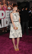 """WESTWOOD, CA - APRIL 28: Ellie Kemper arrive at the premiere of Universal Pictures' """"Bridesmaids"""" held at Mann Village Theatre on April 28, 2011 in Los Angeles, California."""