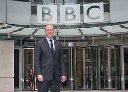 © London News Pictures. File picture dated 04/07/2012.  George Entwistle, the new director of the BBC posing today, outside BBC's New Broadcasting House. BBC Trust Chairman Lord Patten has appointed George Entwistle as the Director-General of the BBC. Photo credit: Tolga Akmen/LNP