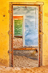 Abandoned house in ghost town of Kolmanskop, Namibia, Africa