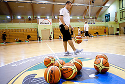 FIBA balls during practice session of Slovenian National Basketball team during training camp for Eurobasket Lithuania 2011, on July 12, 2011, in Arena Vitranc, Kranjska Gora, Slovenia. (Photo by Vid Ponikvar / Sportida)