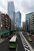 New tower complexes rise over a repidly redeveloping Shibuya in Tokyo, Japan, Saturday May 18th 2019