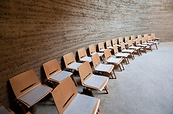 Interior of new Chapel of Reconciliation near former Berlin Wall in Bernauer Strasse Berlin