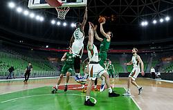 during basketball match between KK Cedevita Olimpija and KK Krka in Champions Round of Liga Nova KBM 2020/21, on April 24, 2021 in Arena Stozice, Ljubljana, Slovenia. Photo by Vid Ponikvar / Sportida