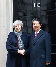 Shinzō Abe & Theresa May 10th January 2019