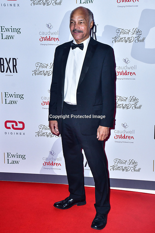 John Conteh arrive at Float Like A Butterfly Ball for Caudwell Children Charity at Grosvenor House Hotel on 16 November 2019, London, UK.