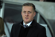 file pic Garry Monk has been sacked as Swansea manager on 9/12/2015. Swansea city manager Garry Monk looks on from the dugout. Barclays Premier league match, Swansea city v Leicester city at the Liberty Stadium in Swansea, South Wales on Saturday 5th December 2015.<br /> pic by  Andrew Orchard, Andrew Orchard sports photography