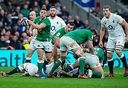 Twickenham, England, 23rd February, John COONEY, redistributes the ball, from the back of the scrum, during the Guinness Six Nations, International Rugby,  during then England vs Ireland, RFU Stadium, United Kingdom, [Mandatory Credit; Peter SPURRIER/Intersport Images]
