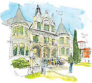 Denny Hall is the first building that opened on the current University of Washington campus, back in 1895. <br /> Gabriel Campanario / The Seattle Times