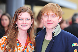© Licensed to London News Pictures. 31/03/2012. Watford, England. Bonnie Wright and Rupert Grint attends The Warner Bros. Studio Tour London - The Making of Harry Potter ** GRAND OPENING at Leavesden Studios near Watford Hertfordshire  Photo credit : ALAN ROXBOROUGH/LNP