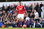 Chris Smalling of Manchester United in action. Barclays Premier league match, Tottenham Hotspur v Manchester Utd at White Hart Lane in London on Sunday 10th April 2016.<br /> pic by John Patrick Fletcher, Andrew Orchard sports photography.