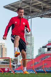 September 1, 2017 - Toronto, Ontario, Canada - Nik Ledgerwood during open training session conference in Toronto before the Canada-Jamaica Men's International Friendly match at BMO Field in Toronto Canada September 2, 2017  (Credit Image: © Anatoliy Cherkasov/NurPhoto via ZUMA Press)