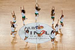 Cheerleader Dragon Ladies during final match of Basketball NLB League at Final Four tournament between KK Union Olimpija (SLO) and Partizan Belgrade (SRB), on April 21, 2011 at SRC Stozice, Ljubljana, Slovenia. (Photo By Matic Klansek Velej / Sportida.com)