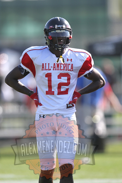 Devon Blackmon during the practice session at the Walt Disney Wide World of Sports Complex in preparation for the Under Armour All-America high school football game on December 3, 2011 in Lake Buena Vista, Florida. (AP Photo/Alex Menendez)
