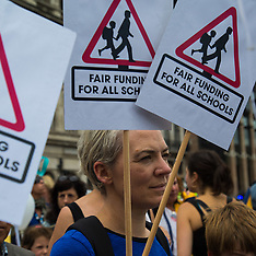2017-07-16 Picnic protest in London demands fairer funding for schools