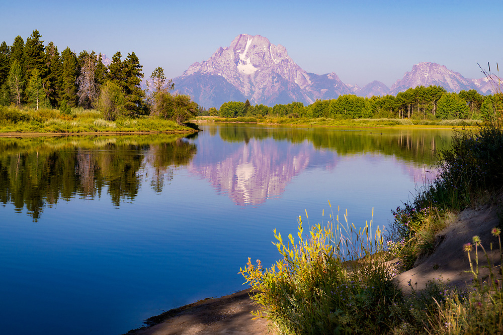 Oxbow Bend and a calming section of the Snake River, Grand Teton National Park, Wyoming