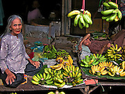 Vietnam, Hoi An:old women at the market.