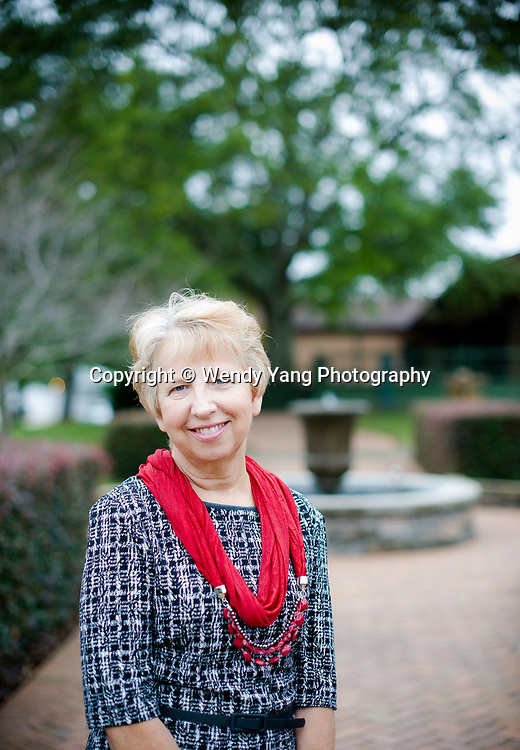 9/25/14 - Nancy Writebol of Charlotte had tested positive for the Ebola virus in late July.  Writebol was discharged from Emory University Hospital in Aug. and is no longer infectious. She is pictured at the SIM headquarters in south Charlotte. Photo by Wendy Yang Photography