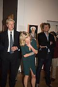 JO JOHNSON; RACHEL JOHNSON; LEO JOHNSON, Exhibition opening of paintings by Charlotte Johnson Wahl. Mall Galleries. London, 7 September 2015.