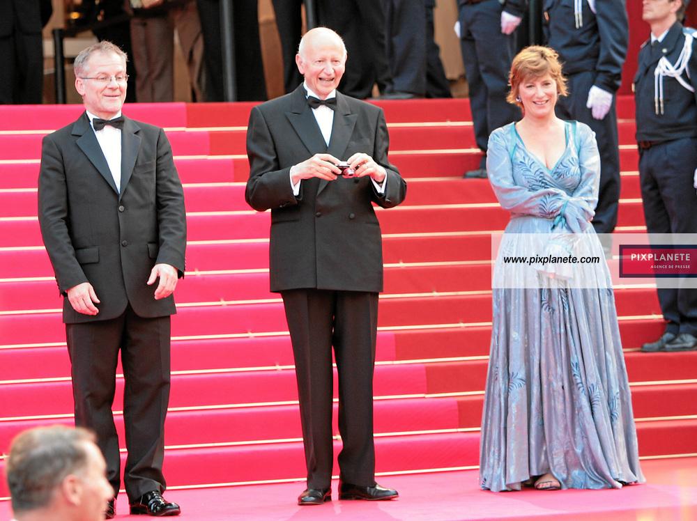 Gilles Jacob sous le charme de Jane Fonda devient photographe ! Festival de Cannes - Montée des marches - 26/05/2007 - JSB / PixPlanete