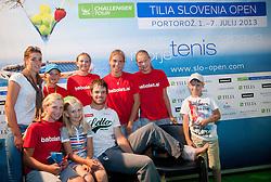Injured Blaz Kavcic of Slovenia with fans during Day One of tennis tournament ATP Challenger Tilia Slovenia Open 2013 on July 2, 2013 in SRC Marina, Portoroz / Portorose, Slovenia. (Photo by Vid Ponikvar / Sportida.com)