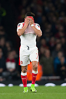 Arsenal's Alexis Sanchez reacts     <br /> <br /> <br /> Photographer Craig Mercer/CameraSport<br /> <br /> The Emirates FA Cup Sixth Round - Arsenal v Lincoln City - Saturday 11th March 2017 - The Emirates - London<br />  <br /> World Copyright © 2017 CameraSport. All rights reserved. 43 Linden Ave. Countesthorpe. Leicester. England. LE8 5PG - Tel: +44 (0) 116 277 4147 - admin@camerasport.com - www.camerasport.com