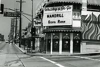 1973 The Whisky a Go Go on Sunset Blvd.