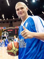 Edo Muric of Slovenia before the U-18 All Star game at EuroBasket 2009, on September 18, 2009 in Arena Spodek, Katowice, Poland.  (Photo by Vid Ponikvar / Sportida)