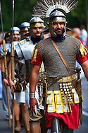 Men dressed as Roman Soldiers - Badascony, Hungary .<br /> <br /> Visit our HUNGARY HISTORIC PLACES PHOTO COLLECTIONS for more photos to download or buy as wall art prints https://funkystock.photoshelter.com/gallery-collection/Pictures-Images-of-Hungary-Photos-of-Hungarian-Historic-Landmark-Sites/C0000Te8AnPgxjRg