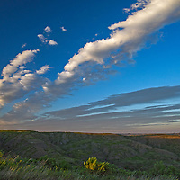 Clouds hover over the Missouri River Breaks in Charles M. Russel National Wildlife Refuge, Montana.