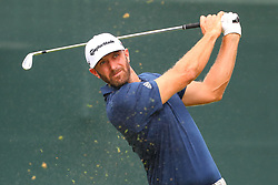 August 25, 2018 - Paramus, NJ, U.S. - PARAMUS, NJ - AUGUST 25:   Dustin Johnson of the United States plays his shot from the first tee  during the third round of The Northern Trust on August 25, 2018 at the Ridgewood Championship Course in Ridgewood, New Jersey.   (Photo by Rich Graessle/Icon Sportswire) (Credit Image: © Rich Graessle/Icon SMI via ZUMA Press)
