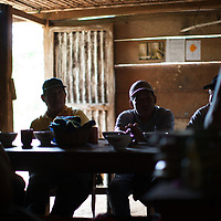 Sitting at the table in a Q'eqchi house in Concepción Actelá, Alta Verapaz. World Renew is beginning to work in Concepción Actelá, through its Guatemalan partner ADIP.