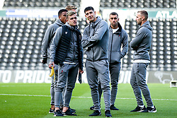 Sammie Szmodics of Bristol City and Callum O'Dowda of Bristol City arrive at Pride Park for the Sky Bet Championship fixture against Derby County  - Mandatory by-line: Robbie Stephenson/JMP - 20/08/2019 - FOOTBALL - Pride Park Stadium - Derby, England - Derby County v Bristol City - Sky Bet Championship