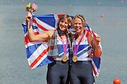 Eton Dorney, Windsor, Great Britain,..2012 London Olympic Regatta, Dorney Lake. Eton Rowing Centre, Berkshire.  Dorney Lake.  ..Final Women's Double Scull, GBR W2X, right. Anna WATKINS and Katherine GRAINGER..12:51:54  Friday  03/08/2012 [Mandatory Credit: Peter Spurrier/Intersport Images]