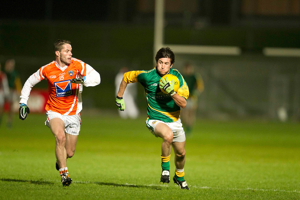 Fitzsimons Cup Final at Pairc Tailteann, Navan..Meath vs Armagh.Paddy Gilsenan (Meath) & Eugene McVerry (Armagh).Photo: David Mullen / www.cyberimages.net © 2011